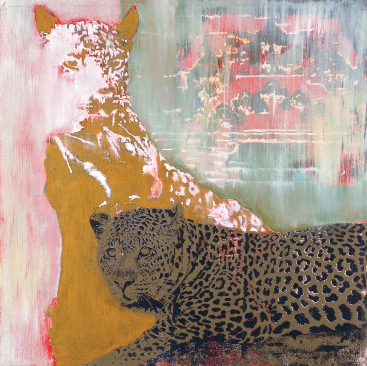 LEOPARD IN BED